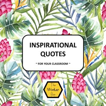 Inspirational Posters - Tropical Leaf Design