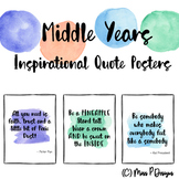Inspirational Posters - Watercolour Theme (Upper Primary)