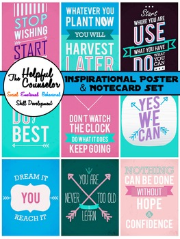 Inspirational Posters and Notecards Set