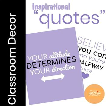 Inspirational Posters for Classroom Decor