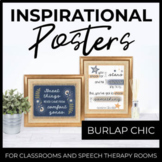 Inspirational Posters for Classroom Decor: Burlap Chic
