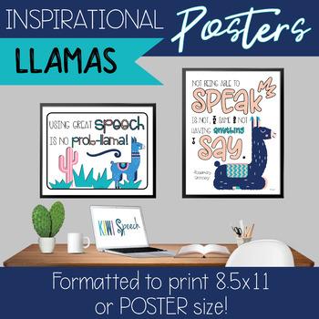 Inspirational Posters for Classroom Decor {Llama}