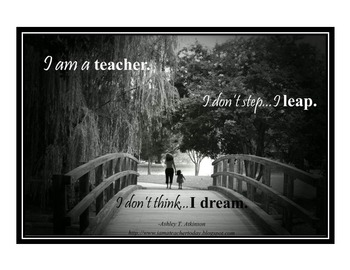 Inspirational Posters for Teachers- Dreaming Big.