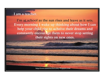 Inspirational Posters for Teachers- Hopes and Dreams