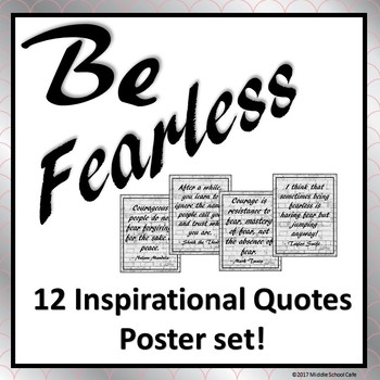 Inspirational Posters for Teens - Be Fearless!