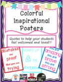 Colorful Inspirational Quotes Posters or Anchor Charts