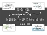 Inspirational Posters to Motivate and Keep Students Working Hard