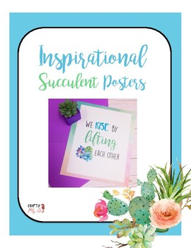 Inspirational Posters -watercolor succulents themed-