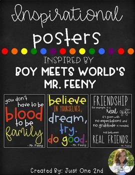 Inspirational Posters with Quotes by Mr. Feeny from Boy Meets World