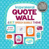 """Inspirational QUOTE WALL: """"Speech Bubble"""" Theme {Juicy Colors}"""