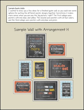 """Inspirational QUOTE WALL: """"Trendy Chalkboard"""" Theme {Modern Colors}"""