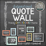 "Inspirational QUOTE WALL: ""Trendy Chalkboard"" Theme {Modern Colors}"