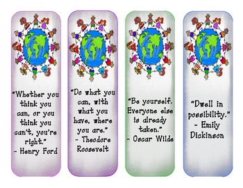 Inspirational Quote Bookmarks