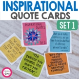 Inspirational Quote Cards for Students Set 1