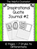 School Counseling Journal - Inspirational Quotes #2