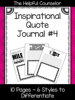 Inspirational Quote Journal #4