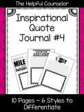 School Counseling Journal - Inspirational Quotes #4