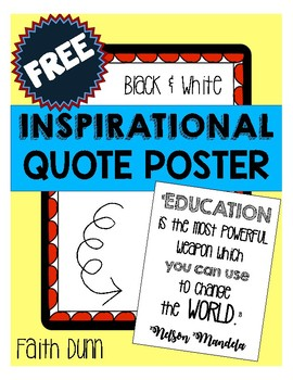 Inspirational Quote Poster - Freebie