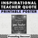 Inspirational Quote Poster Teacher Appreciation Gift End of Year Thank You Gift