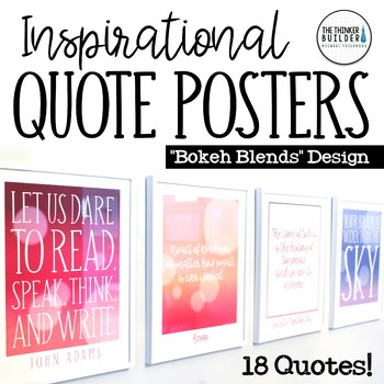 Inspirational Quote Posters {18 Quotes, Freshly Designed}