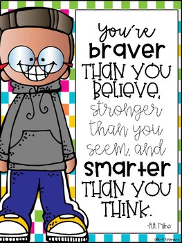 Inspirational Quote Posters- 50 different Classroom Posters