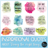 """Inspirational Quote Posters About """"Doing the Right Thing"""""""