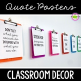 Inspirational Quote Posters - Classroom Decor
