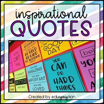 Inspirational Quote Posters for the Classroom