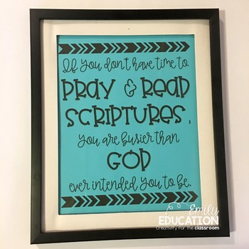 Inspirational Quote Print: Prayer and Scripture