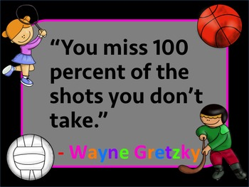 Physical Education Inspirational Quotes - Famous Athletes
