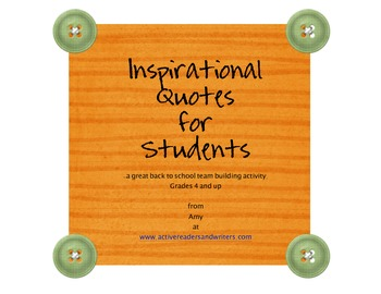 Inspirational Quotes Back To School Activity By Active Readers And