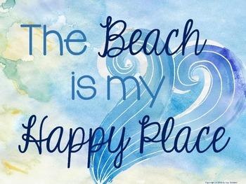 Inspirational Quotes {Beach / Ocean themed}  Set 1