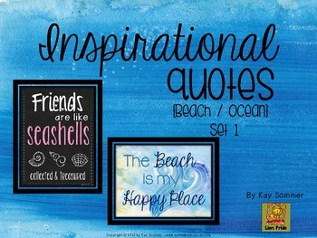Inspirational Quotes {Beach / Ocean themed}  Set 1