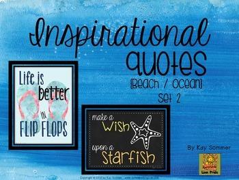 Inspirational Quotes {Beach / Ocean themed}  Set 2