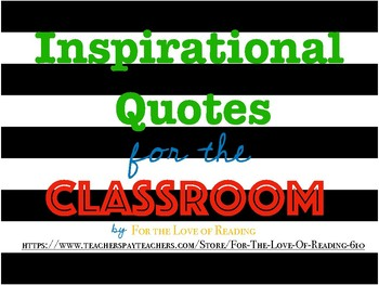 Inspirational Quotes Bold Design
