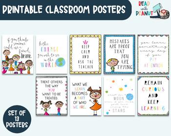 Inspirational Quotes Classroom Decor, Bulletin Board Art Prints, Growth Mindset