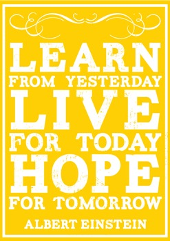 Inspirational Quotes Classroom Decor Posters Sunny Days Yellow Vintage