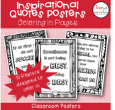Inspirational Quotes Classroom Posters- Coloring In Worksheets