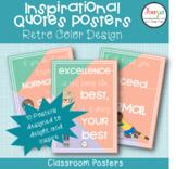 Inspirational Quotes Classroom Posters- Retro Color Design