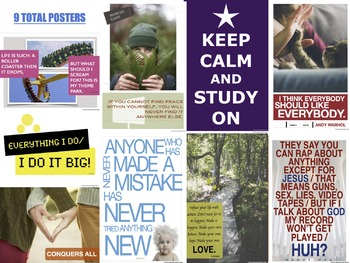 Inspirational Quotes - Classroom Posters (Set #2 of 2)