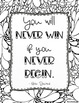 Growth Mindset Inspirational Quotes Doodle Coloring Pages