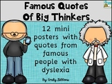 Inspirational Quotes ~Famous Dyslexics Posters~