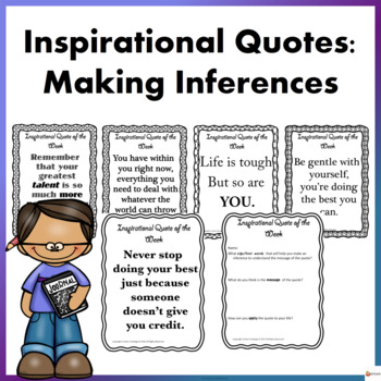 Inspirational Quotes: Making Inference