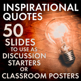 Inspirational Quotes, Motivational Posters/Decor for Secondary Classrooms, 6-12