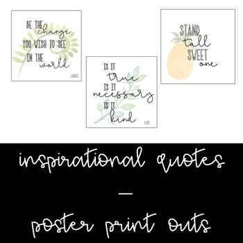 10 Foliage/Tropical Poster Quotes