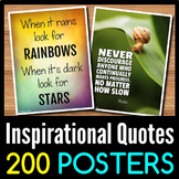 Back to School Inspirational Quotes Posters - 200 Classroom Posters