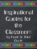Inspirational Quotes Posters Chalkboard and Geometric Shapes