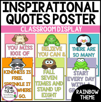 Inspirational Quotes Posters- Classroom Display (Chevron Theme)