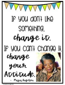 Inspirational Quotes Posters: 6 Influential Women [SAMPLE]