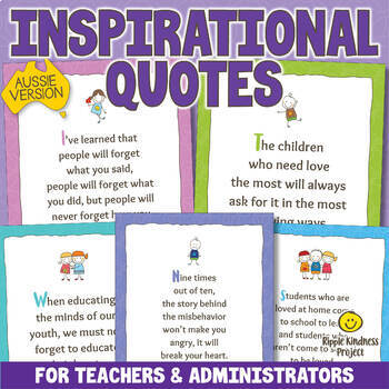 inspirational quotes posters for teachers parents a format tpt
